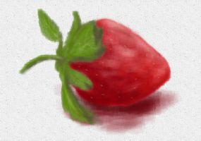 Strawberry paiting by rev-Jesse-C