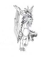 Ignitus ink and pencil by NightBlueSky