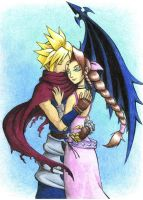 KH Cloud and Aerith 2 by Naerko