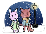 Kitty And Bunny by lunar-neo
