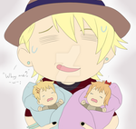 Syo, Sora and Mira - When mom isn't home... by HedgeCatDragonix
