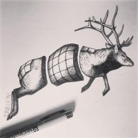 daveliciniart jumping elk by Daveliciniart