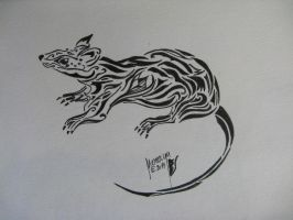 Rat Tattoo by Nereaya