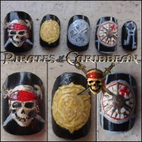 Pirates of the Caribbean nails by Ninails