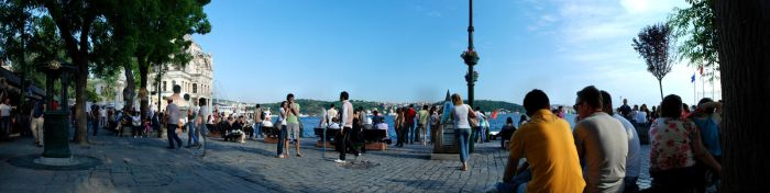 Ortakoy Square Panoramic 1 by thenoiseless
