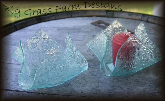 Fused Glass Vases by bgfdesigns