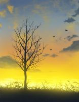 Bird and Tree by mclelun
