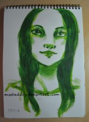 Acrylic, Green by MadieDalily