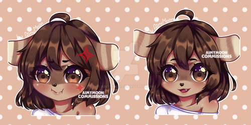 Commission of stickers for Flannfess + SPEEDPAINT by AimyMoon