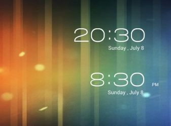 Android ICS LockScreen Clock by pigboat