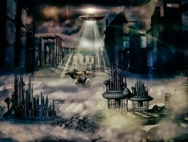 Alien Abduction City by Marilis5604