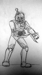 (Sketch WIP?)Advanced Ennard-''Dont mess with me'' by xRAVENBLADEx