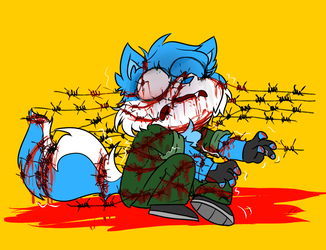 Goretober 1 - Barbed wire by Intoxic-Lizard