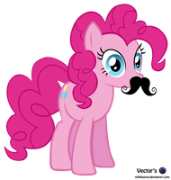 MLP Vector - Pinkie Pie Mustache by MLPBlueRay