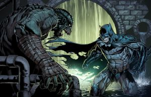 Killer Croc Vs Batman by juan7fernandez