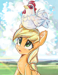 Applechick by mirroredsea