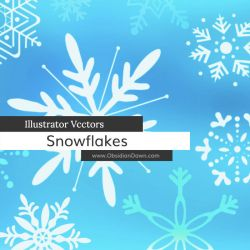 Snowflake Illustrator Vectors by redheadstock