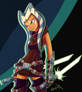 Ahsoka Tano - Star Wars by Genso-x