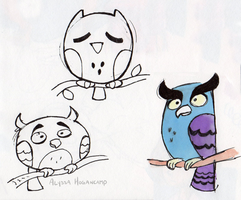 Owls by little-ampharos