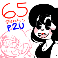 65 Sketches! [Pay To Use / P2U ] by LoulabeIIe
