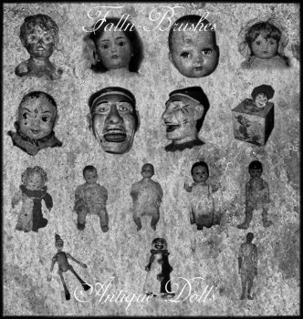 Antique Doll Brushes by Falln-Stock