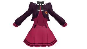 MMD Red school dress Download by 9844