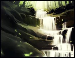 Forest waterfall by GaudiBuendia