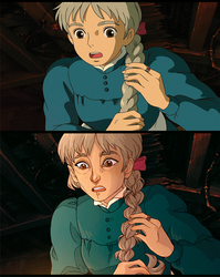 - Howl's Moving Castle Redraw [sophie] - by HennaFaunway