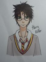 HP:Harry Potter Doodle by AddzB
