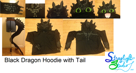 Black Dragon Hoodie Collage by StraylightRevelation
