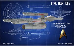TOS.5 Federation Class WIP2 by dragonpyper