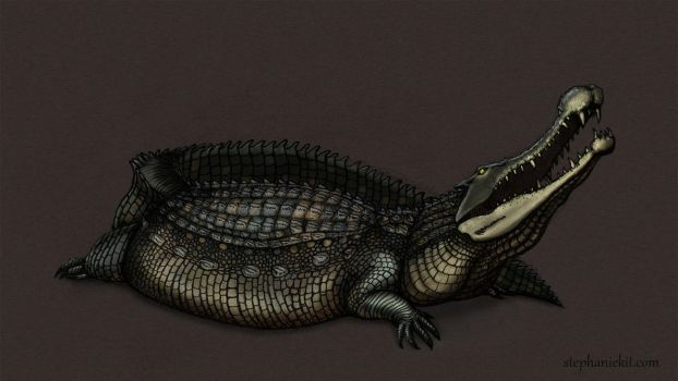 Sarcosuchus by kitxunei