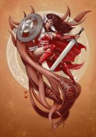Lady Sif the Shield Maiden by steevinlove