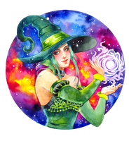 - Commission - Green Witch - by Losenko