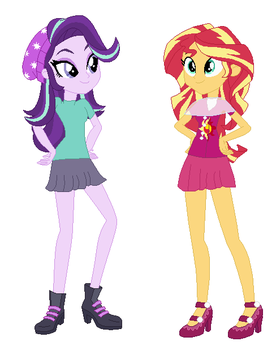 Starlight Glimmer And Sunset Shimmer My Version by STARWAR26