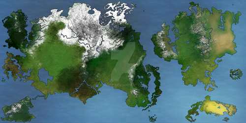 World Map: Oripoedily (Spring) by Neiot