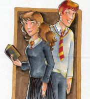 Ron and Hermione by bachel60