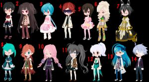 Free Selfy Adopts Pack 31 (4/14) Open by mermagic-adopts