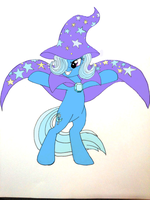 Behold the Great and Powerful Trixie -Colored- by StongInventor18