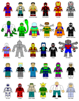 LEGO Spider-Man characters by Gamekirby