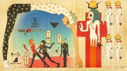 EVA Doujin murals of ancient Egypt by illust-ringo