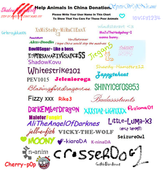 Help the animals in China by lovify1234