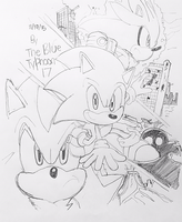 Sonic the Hedgehog (2006) Artwork by BlueTyphoon17