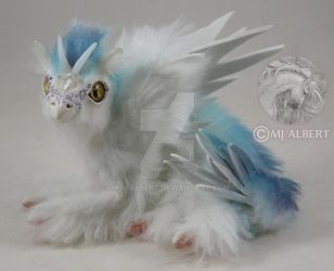 OOAK Bird Dragon Fledgling Poseable Doll by M-J-Albert