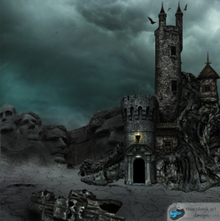 a castle front off faces amountain - first time by sharplookart