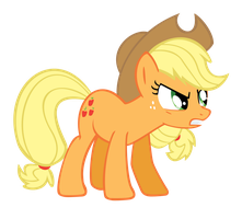 Applejack Vector - Mad by smlahyee