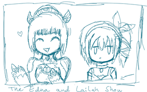 Edna and Lailah Show WIP by AnjuSendo