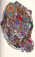 Abstract experiment with gel pens by Giovanni-Palma