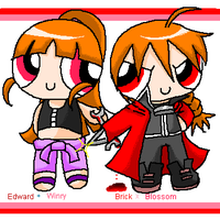 Brick and Blossom as FMA by mamepika