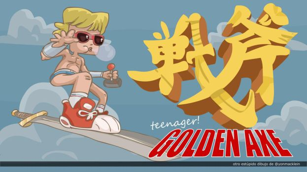 Teenager Golden Axe by yonmacklein